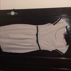 Beige work dress with tan lining, boohoo, size S/M